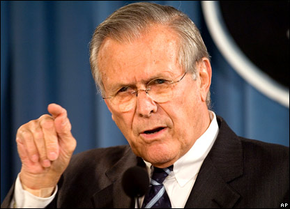 US Defence Secretary Donald Rumsfeld (26 September 2006)