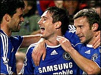 Michael Ballack, Frank Lampard and Andriy Shechenko