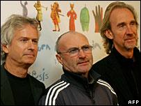 Miembros de la banda Genesis.