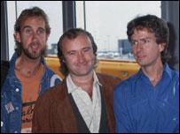 Banda Genesis en los años 80.