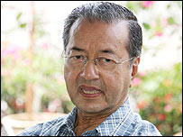 Former Malaysian Prime Minister Mahathir Mohamad in October 2006