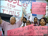 Protests against the attack in Colombo