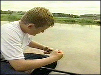Pupil tries fishing