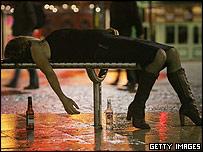 A drunk woman