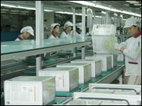 Xbxo 360 production line, Microsoft