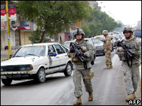 US soldiers on Baghdad street
