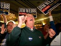 Partidarios de los demócratas celebran los resultados en EE.UU.