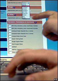 Online carbon calculator. Image: AP