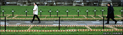 Royal British Legion's Field of Remembrance in Westminster Abbey