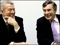 Alan Johnson and Gordon Brown
