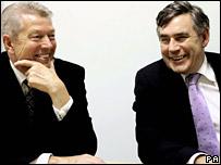 Alan Johnson and Gordon Brown