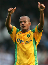 Norwich striker Rob Earnshaw