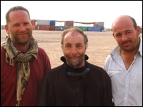 Fred, Peter and Alastair at the end of their journey