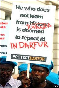 London protest about Darfur. Image: PA