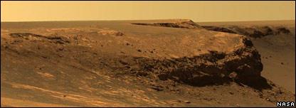 Pared del cráter Victoria.