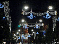 The 2006 Oxford Street Christmas lights