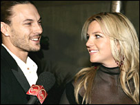 Britney Spears and estranged husband Kevin Federline