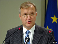 EU Enlargement Commissioner Olli Rehn