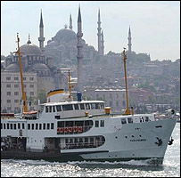 View of Bosphorus ferry, Istanbul