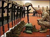 Memorial to slain US marines in Iraq