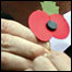 Pinning on a poppy