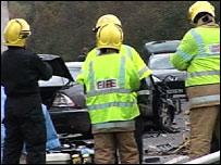 A75 crash scene