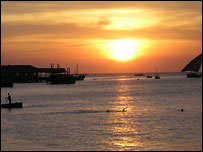 Sunset in Zanzibar's Stonetown taken by BBC News website reader Nathaniel Falck