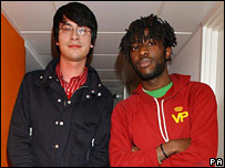 Matt Tong and Kele Okereke from Bloc Party