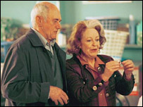 John Bardon as Jim with Diana Coupland as Maureen in EastEnders