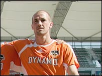 Houston Dynamos striker Paul Dalglish