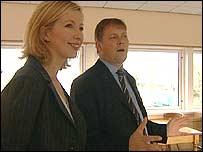 BBC presenter and Rod McKie of Welcome Break