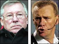 Sir Alex Ferguson and Graham Poll