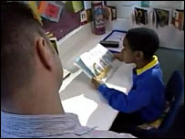 Reading Recovery tutor and pupil