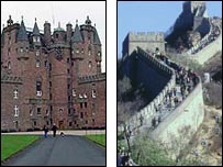 Glamis Castle and the Great Wall of China