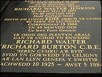 Richard Burton plaque