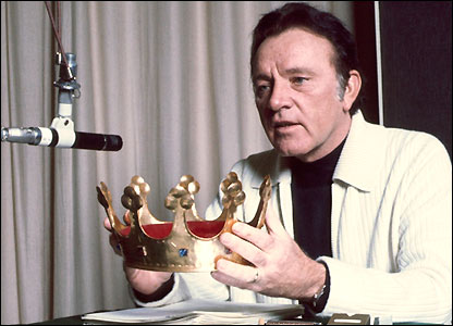 Richard Burton at the BBC in 1977