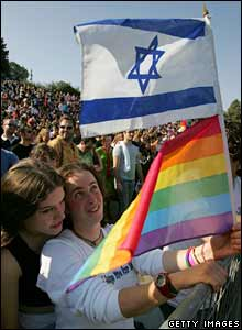 The gay pride happening in Jerusalem