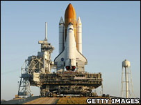 Shuttle on he pad (Getty)