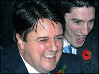 Nick Griffin and Mark Collett emerge triumphant from court