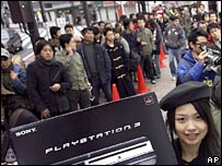 Japanese line up to buy PlayStation 3