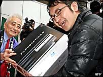 Un comprador feliz con su PS3