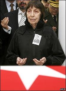 Bulent Ecevit's wife Rahsan Ecevit