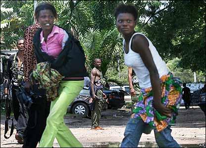 Civilians during clashes