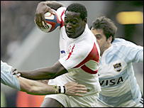 England winger Paul Sackey