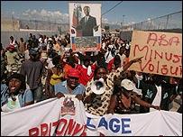 Protestas contra la presencia de la ONU