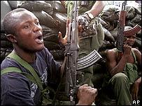 Jean-Pierre Bemba' supporters in Kinshasa