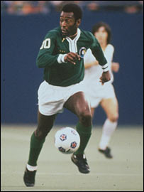 Pele in action for the New York Cosmos