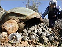 Cluster bomb in Lebanon