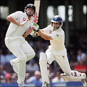 Simon Katich plays an aggressive shot