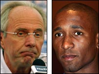 Sven-Goran Eriksson and Jermain Defoe